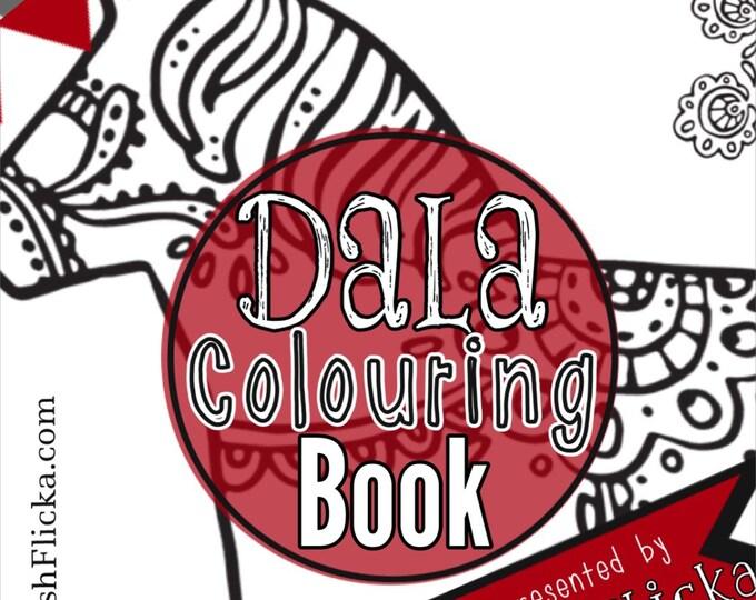 PDF Dala Horses Colouring Book, Wooden Horse, Dalarna, Swedish Dala Horse, Dala, Sweden, Coloring Book, Coloring, TheSwedishFlicka