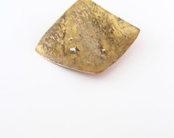 Tree bark brooch