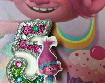 Trolls Poppy  / Birthday Candle / Cake Topper / Keepsake / Any Number