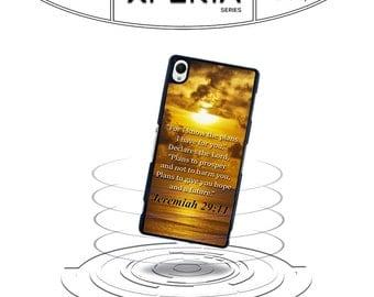 Jeremiah 29:11 Bible Verse Quote Xperia Z Z1 Z2 Z3 Plastic Phone Case