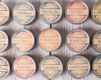 Fandom Candles ~ Pick any 3  ~ Candles Inspired by TV, Film, Book, Magic and More ~ 4oz Soy Candles