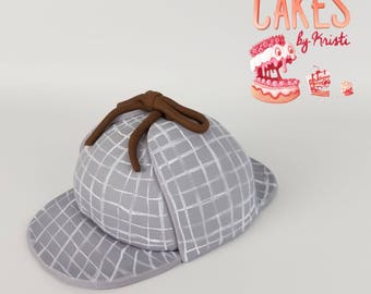 Sherlock Inspired Fondant Hat Cake Topper (MADE TO ORDER)