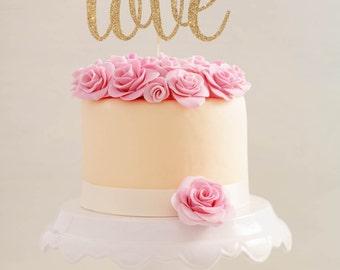 Love Cake Topper  l  Bridal Shower Cake Topper  l   Wedding Cake Topper  l  Bachelorette Cake Topper  l  Custom Cake Topper  l  Love Topper