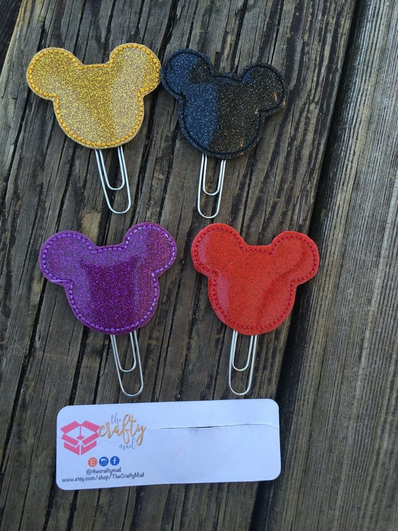 Glitter Mouse Ears Clip/Planner Clip/Bookmark. Choose your color. Mouse inspired
