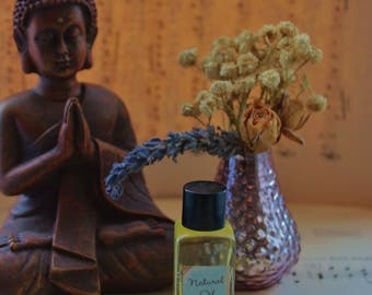 Sandalwood and Patchouli Perfume Oil, recycled glass bottle