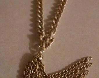 Gold Link Tassel Necklace/Belt, Gifts Under 45.00, Gifts For Her, Tassel Necklace, Gold Chain Necklace, Accessories, Large Link Necklace,Her