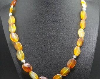 Carnelian Beaded Necklace.