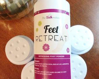 Feet Retreat Foot Powder, Shoe Deodorizer, Gift For Her.
