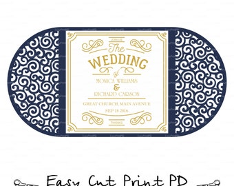 Curl Scroll Swirl Pattern Wedding invitation Card Template folds (svg, dxf, ai, eps, png, pdf) lasercut Instant Download Silhouette Cameo