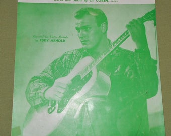 1951 Sheet Music ~ I Wanna Play House With You Recorded by Eddy Arnold