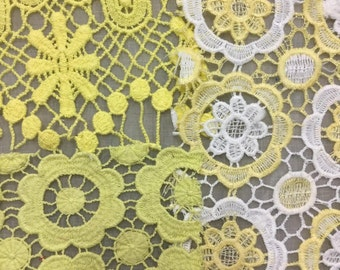 lacey scrap pack - yellow