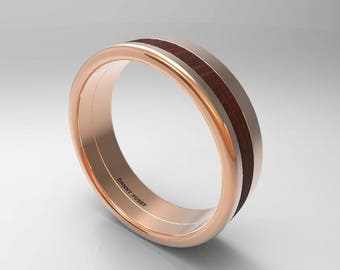 Mens Wedding Band- Rose Gold Mens Ring; Rose Gold Rings For Men, Ring Men Size 6