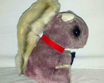 Vintage Dream Pets Squirrel Plushie, Dream Pets, Squirrel, Saw Dust Pet, Japan, Stuffed  Squirrel, 1960s, Dakin,Tooshie Tag Intact,MOD, MCM