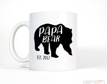 Personalized Fathers Day Gift | New Dad Gift | Personalized Dad Gift | Papa Bear Mug-Dad Mug-Family Man Fathers Day Gift for Dad Coffee Mug