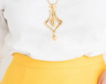 60s Gold Pendant Necklace