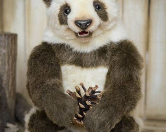 SOLD Panda bear OOAK artist Teddy Bear soft toy nature