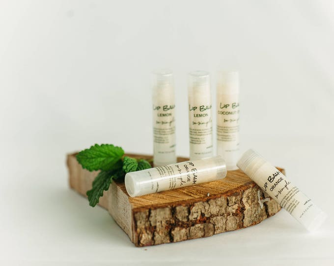 Lip Balm UNSCENTED Moisturizing in a clear twist up tube Organic