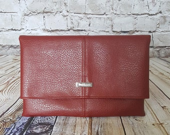 Red Foldover Clutch