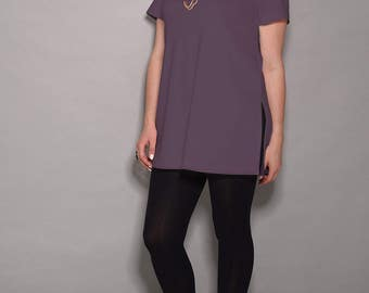 Purple dress, casual dresses, women tunic tops , tunic tops for women, tunic shirt, tunic dress, short dress, print dress, elegant dress