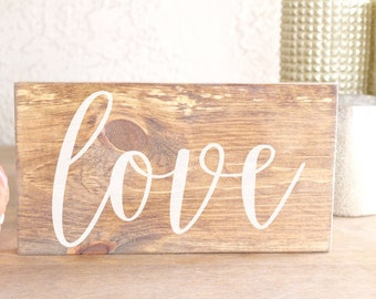 Wooden Love Sign - Engagement Photos Sign - Love Wood Sign - Wedding Photos Sign - Love Wedding Sign - Love Sign