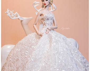 KRYSTAL  - Couture Gown for Fashion Royal FR2 & same size 12'' Fashion Doll