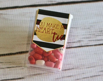 Valentine Printable - TIC TAC - You make my heart Tic - Customized