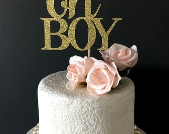 OH BOY cake topper .. baby shower cake topper .. baby shower party