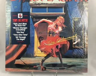 Cyndi Lauper She's So Unusual, Vinyl LP, Record Album, 1980's Pop Music, Girls Just Want To Have Fun, Time After Time, Shrink Wrap
