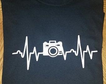 Photographer Camera Heartbeat T-shirt, photo lover, camera lover, gift, Christmas