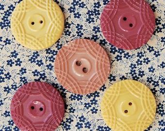1930's Casein Multi-coloured BUTTON Set