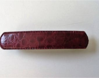 Goody Accents Brown Leather French Clip