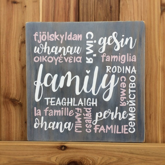 how to say family in different languages