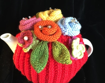 Hand Knitted Tea Cosy, Tea cosies, Tea Cozy (2-4 cup)