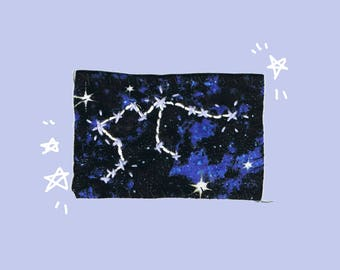 Embroidered Zodiac Constellation Patches