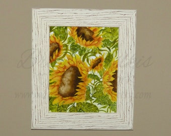 Yellow Sunflower, Sunflower Print, Flower Print, Floral Decor, Watercolor Print, Abstract Decor, Watercolor Painting, Watercolor Flowers