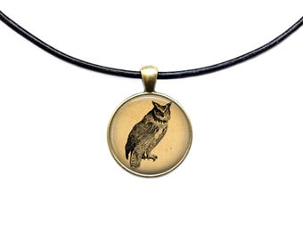 Owl necklace Bird pendant Animal jewelry