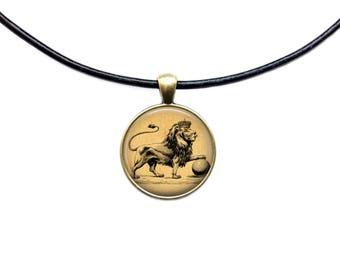 Animal pendant Royal jewelry Lion necklace