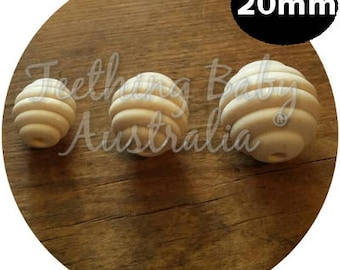 DIY 20mm Bee hive Natural Organic Maple Wood beads- non toxic - Wholesale