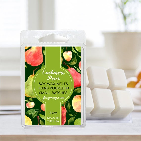 Soy Wax Melts Cashmere Pear Hand Poured 2.7 ounce