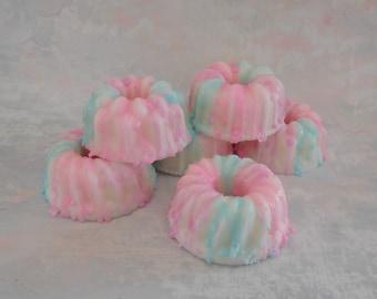 Cotton Candy Soap - Birthday Party Favor - Bundt Cake Soap - Cake Soap - Homemade Soap - Faux Food Soap - Glycerin Soap - Bakery Soap Gift