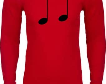Men's Music 8th Note Thermal Shirt MUSICNOTE-N8201