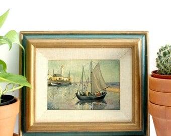 Original Oil On Canvas In Vintage Wood Frame