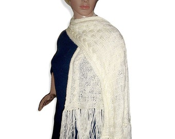 Knit Pattern PDF Cable Weave Scarf, Off white cabled scarf, neckwrap, instructions for long, written tutorial for knit scarf, weave design