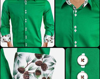 Green Holiday Dress Shirts - Made in the USA