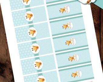 Giraffe Mini Candy Bar Wrappers, Giraffe Baby Shower Mini Candy bar Wrappers, Giraffe Baby Shower Printables