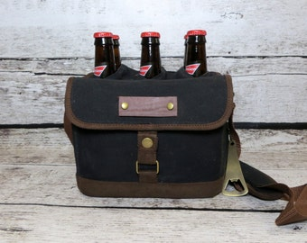 Personalized Beer Cooler, Canvas Drink Tote, Sports Cooler, Groomsmen Gift, Groomsman, Golf, Fishing, Camping, Gifts for Men, Barbecue