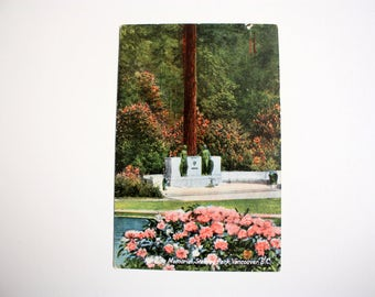 Harding Memorial Stanley Park Vancouver  British Columbia  Postcard / Printed In Germany Germany / Importex
