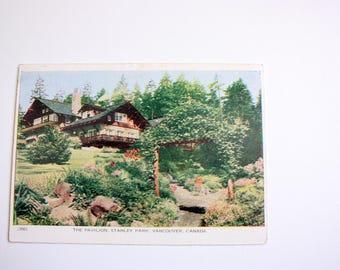 The Pavilion Stanley Park Opening Folkard Letter Postcard 1952 / Vancouver British Columbia Postcard vintage Stanley Park Vancouver Postcard