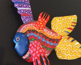 Alebrije - Fish by Zeny Fuentes - gold tail