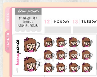 A832 | FACEPALM Keenachi Repositionable stickers Perfect for Erin Condren Life Planner, Filofax, ...